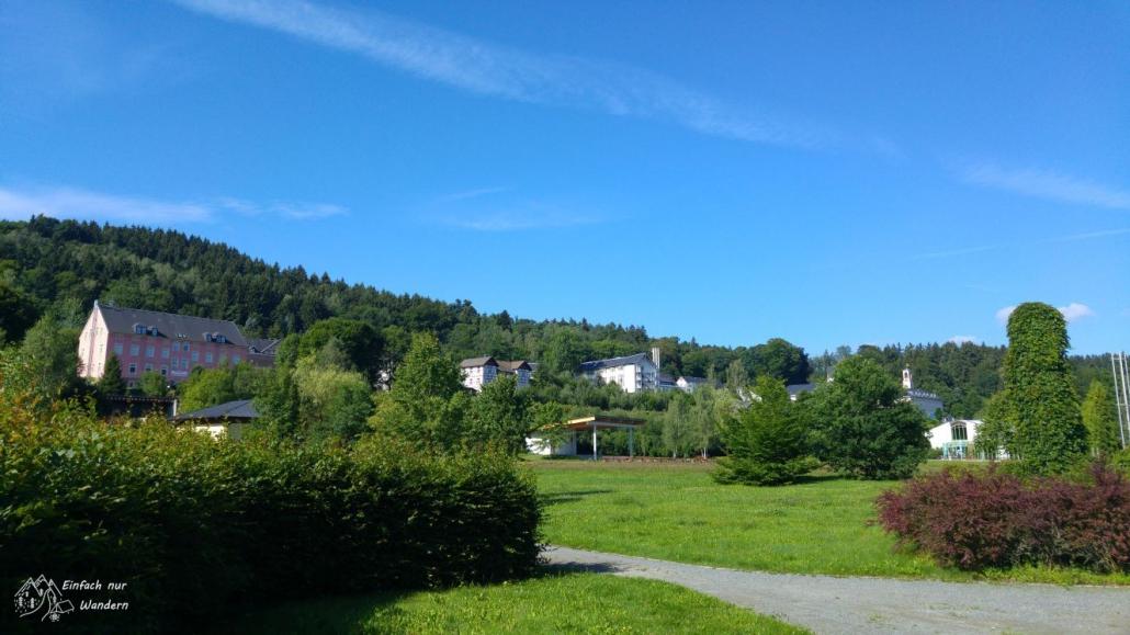 Das Thermalbad Wiesenbad ist ein Verpflegungspunkt auf der Wanderung von Großrückerswalde.