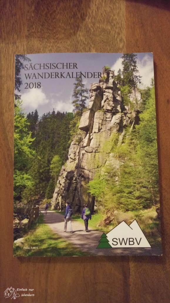 Der sächsische Wanderkalender 2018 ist abgebildet.