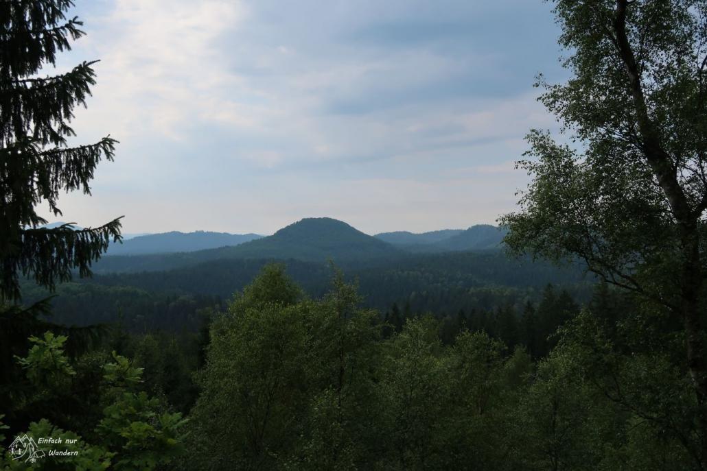Ausblick am Morgen nah Saupsdorf