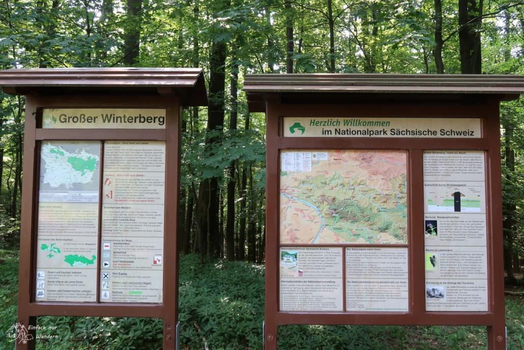 Infotafeln auf dem Großen Winterberg