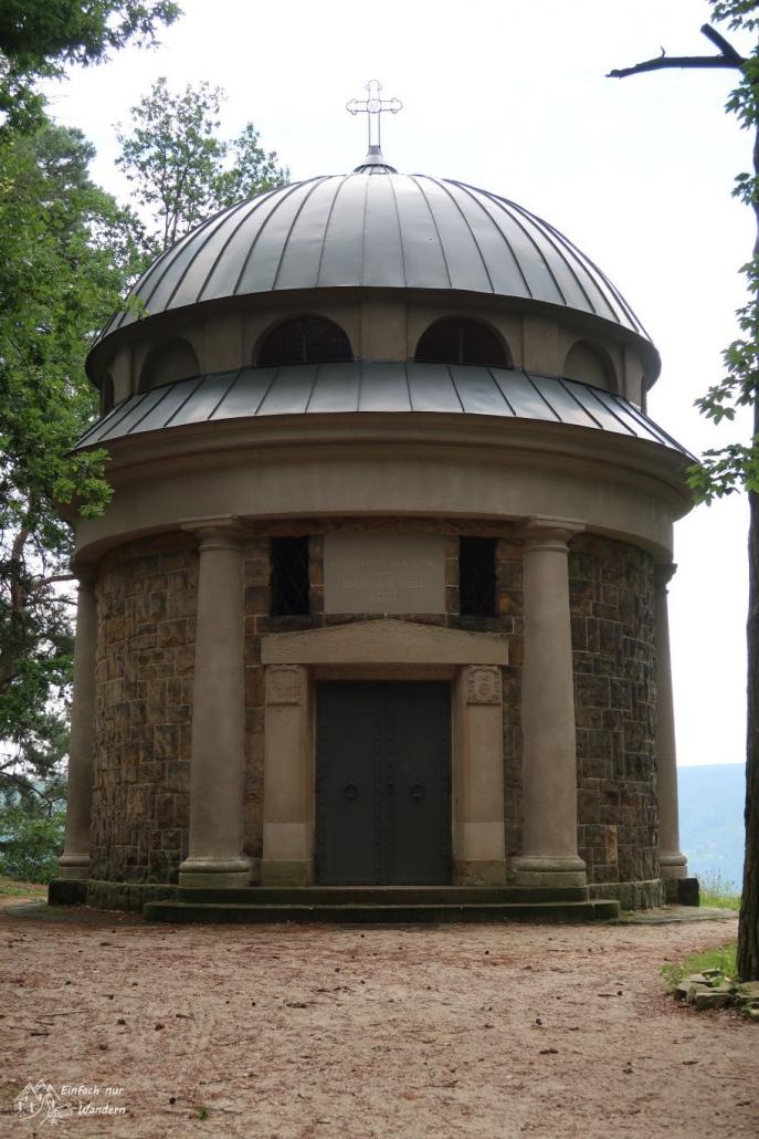 Das Biedermann-Mausoleum an der Thiele-Aussicht.