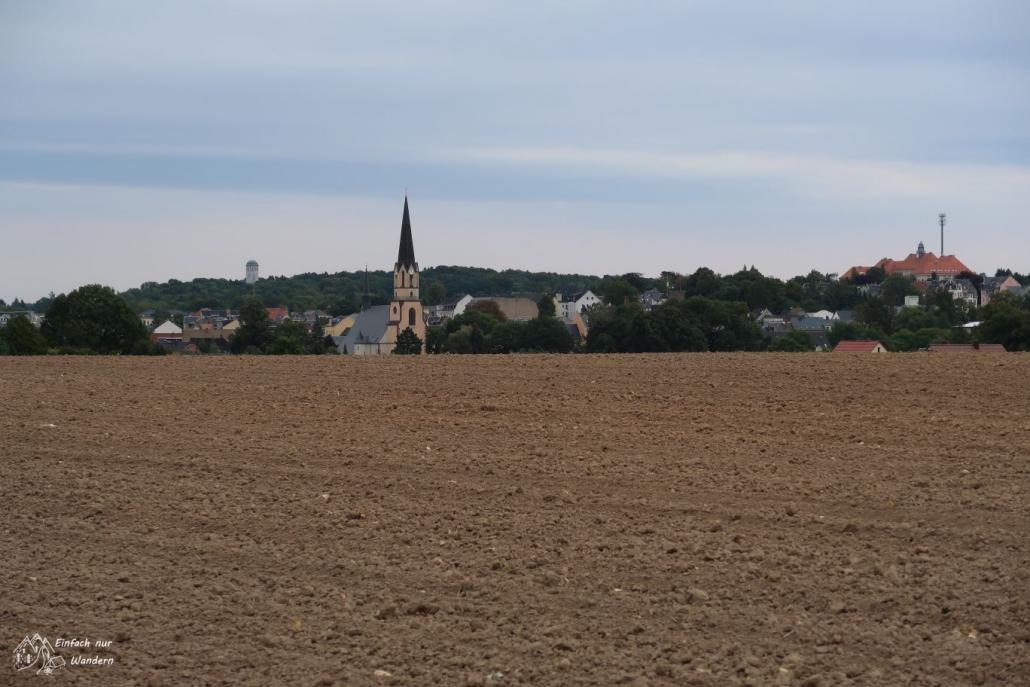 Das Ziel Burgstaedt ist wieder in Sichtweite.