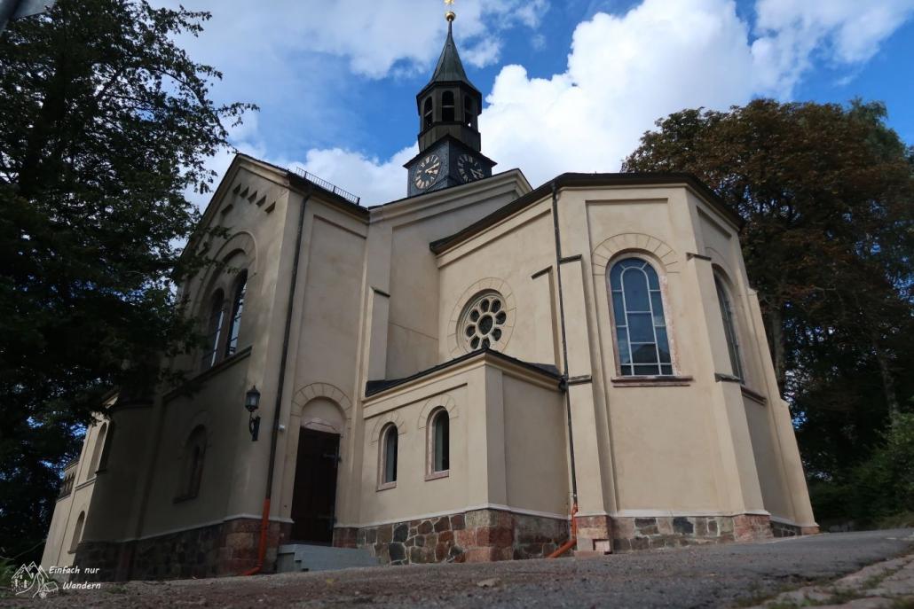 Eine Schoene Kirche am Steinkohlenweg nahe Lugau.