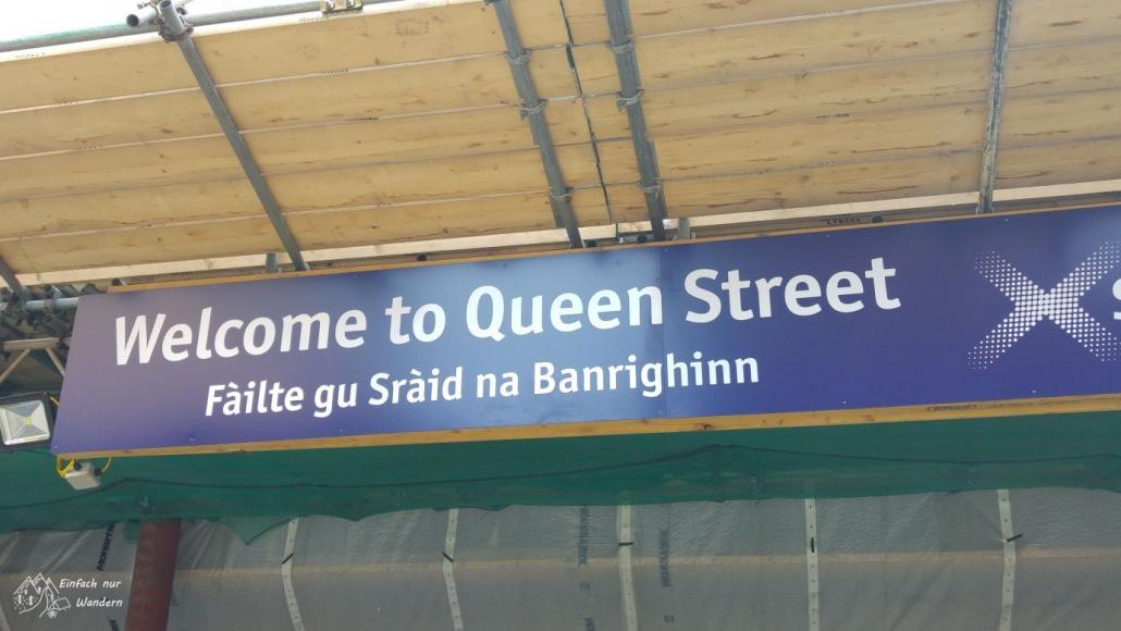 An der Queen Street Station gehts nach Milngavie zum Start des West Highland Way.