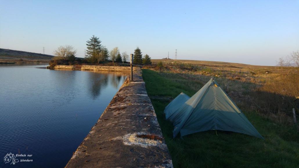 Lohn der Mühe - ein lauschiges Plätzchen am Reservoir.