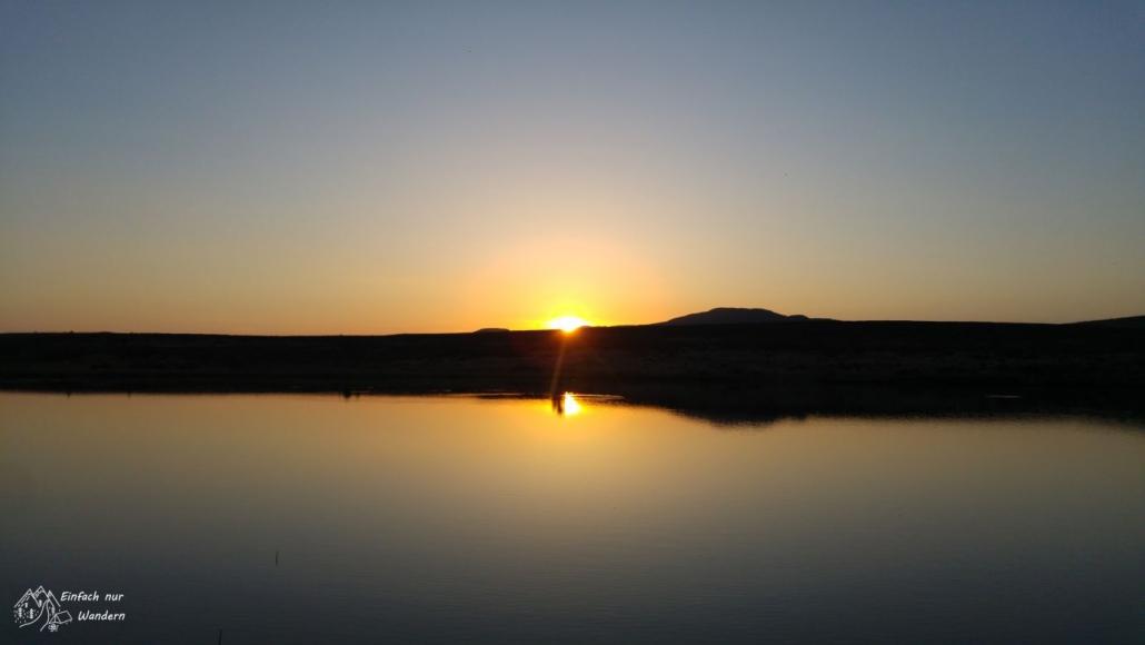 Der erste Tag auf dem West Highland Way geht mit einem tollen Sonnenuntergang zu Ende.