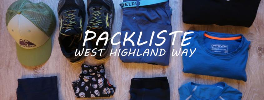 Packliste für den West Highland Way