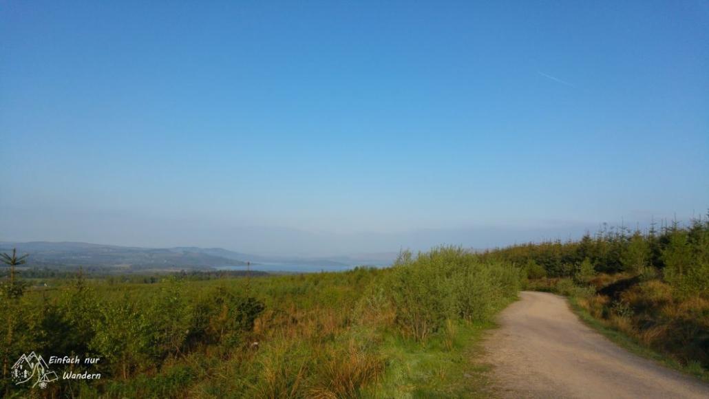 Der West Highland Way verläuft in Richtung Loch Lomond.