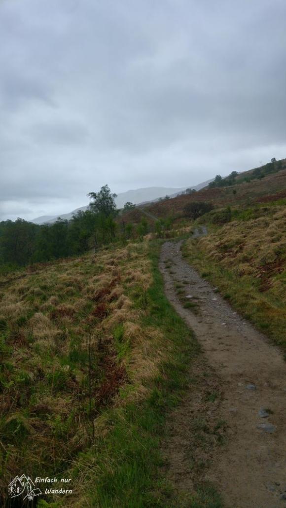 Nach der Beinglas Farm führt der Wanderweg nun in die Highlands.