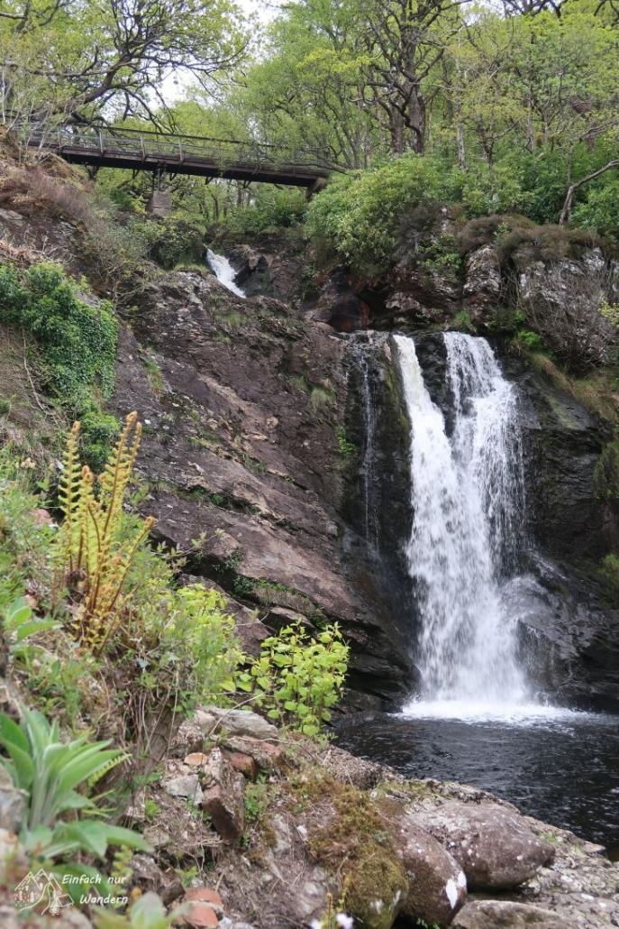 Der Wasserfall von Inversnaid ist eventuell 8 Meter hoch.