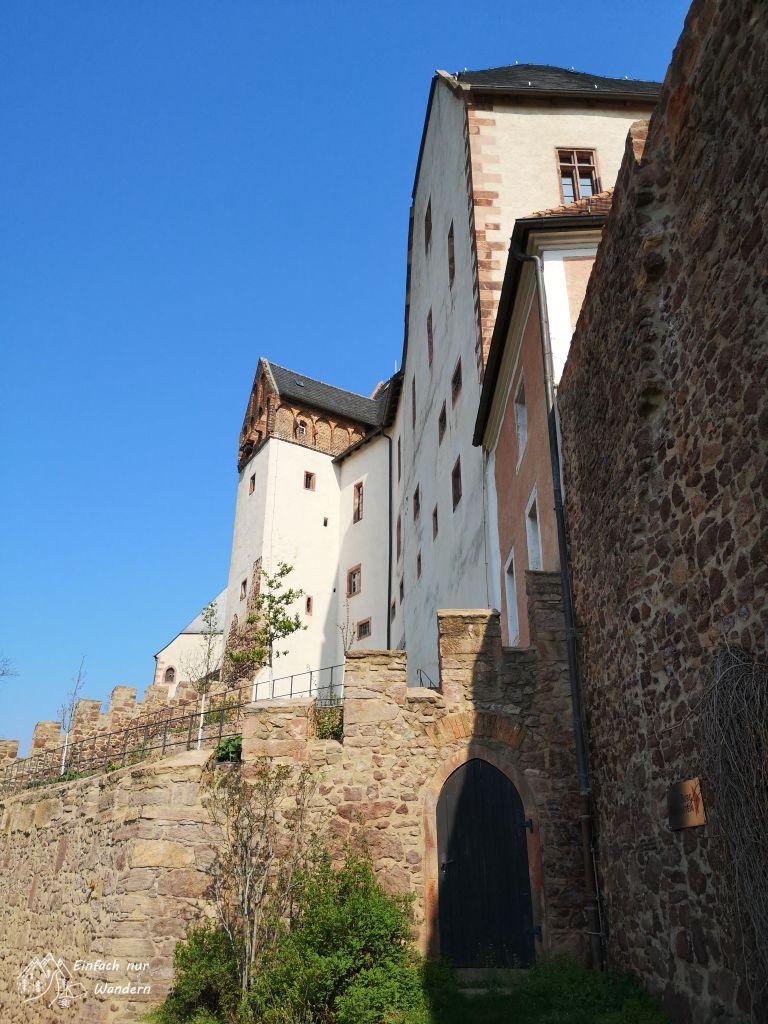 Wir erreichen die Burg Mildenstein in Leisnig.