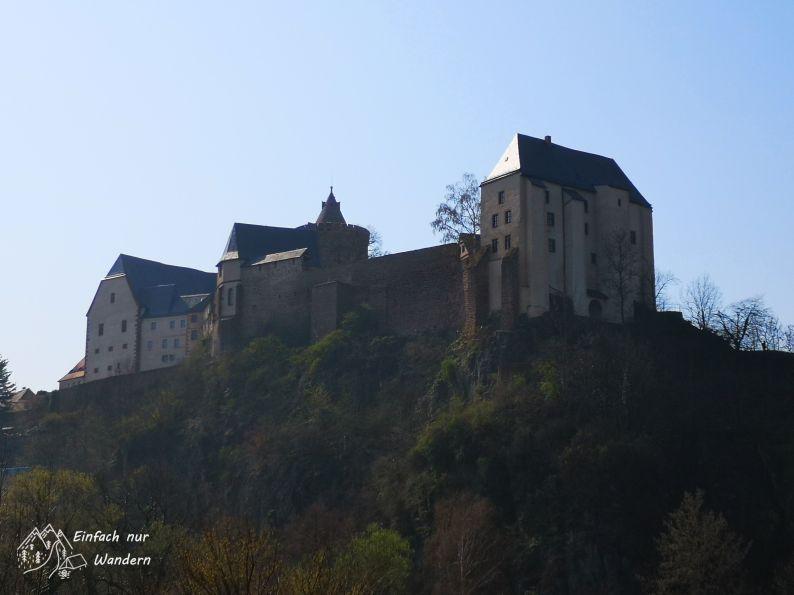 Blick zurück auf die Burg Mildenstein in Leisnig.