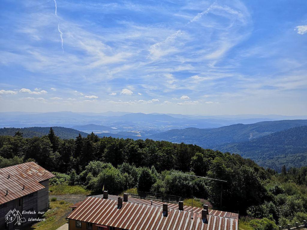 Blick vom Aussichtsturm in Richtung Waldmünchen
