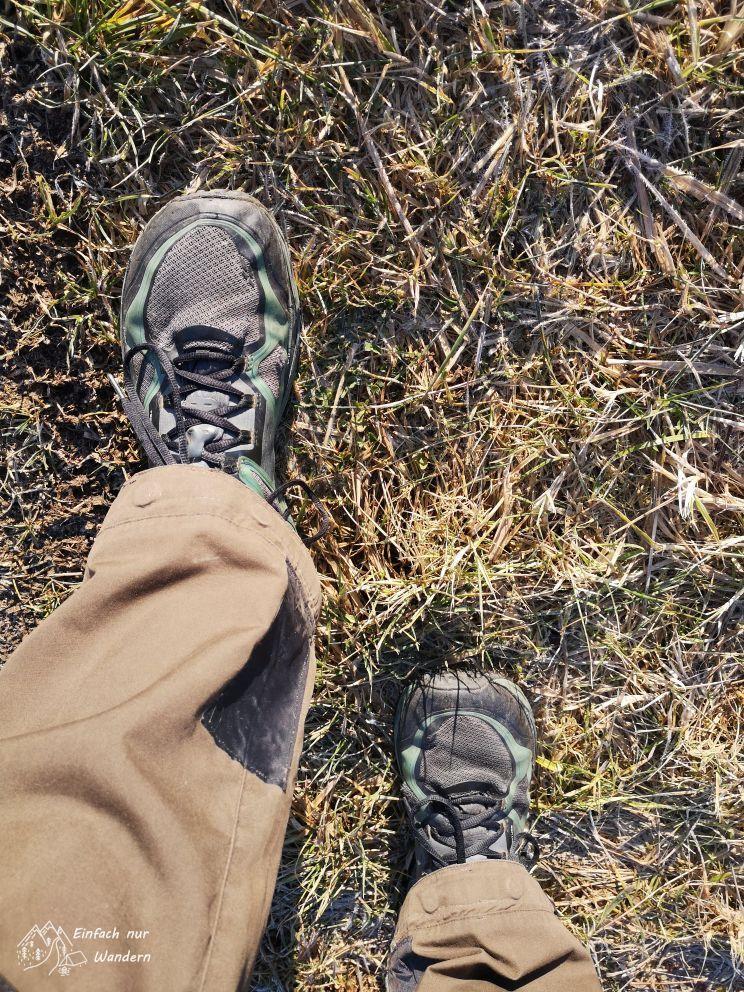 Blick auf die Füße
