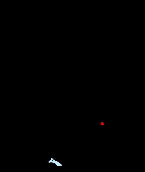 Karte mit Markierung für Waldmünchen